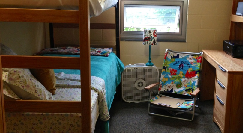 my dorm room at ashland university for the creative writing/poetry MFA summer residency