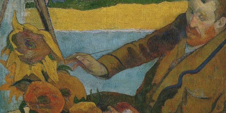 Van Gogh painting sunflowers by paul gauguin
